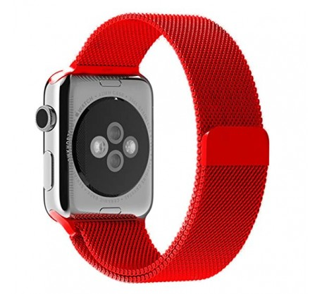 Ремешок для Apple Watch 38mm/40mm Milanese Loop Band Red (OEM)