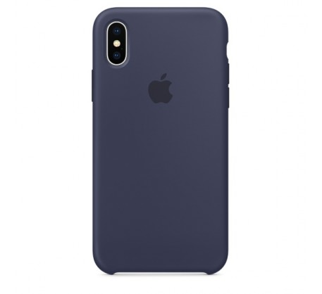 Силиконовый чехол для iPhone X Silicone Case Midnight Blue MQT32 OEM