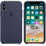 Силиконовый чехол для iPhone XS Silicone Case Copy Midnight Blue