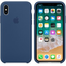 Силиконовый чехол для iPhone XS Silicone Case Copy Blue Cobalt