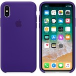 Силиконовый чехол для iPhone XS Silicone Case Copy Ultra Violet