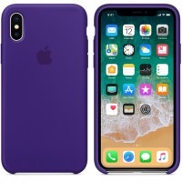 Силиконовый чехол для iPhone XS Max Silicone Case Ultra Violet Copy