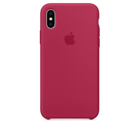Apple iPhone X/XS Silicone Case - Rose Red