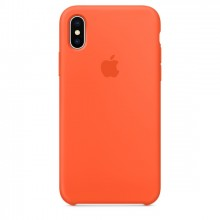 Оригинальный чехол для Apple iPhone X/XS Silicone Case - Spicy Orange