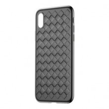 Чехол для iPhone XS Baseus Weaving Case Black