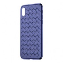 Чехол для iPhone XS Baseus Weaving Case Blue