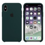 Силиконовый чехол для iPhone XS Silicone Case Copy Forest Green