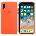Силиконовый чехол для iPhone XS Silicone Case Copy Spicy Orange