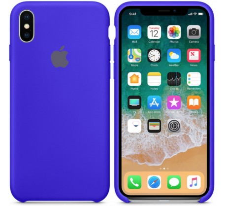 Силиконовый чехол для iPhone XS Silicone Case Copy Ultramarine