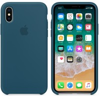 Силиконовый чехол для iPhone X Silicone Case Cosmos Blue MR6G2 OEM