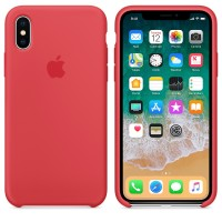 Силиконовый чехол для iPhone X Silicone Case Copy Red Raspberry