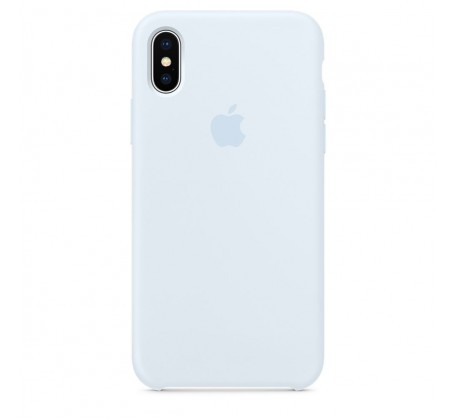 Силиконовый чехол для iPhone X Silicone Case Sky Blue MRRD2 OEM
