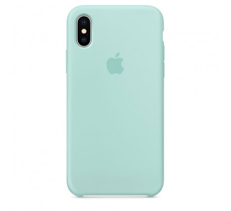 Силиконовый чехол для iPhone X Silicone Case Marine Green MRRE2 OEM