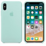 Силиконовый чехол для iPhone XS Silicone Case Copy Marine Green