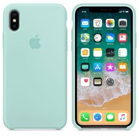 Силиконовый чехол для iPhone X Silicone Case Copy Marine Green