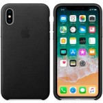 Чехол для iPhone X/XS Leather Case Black OEM