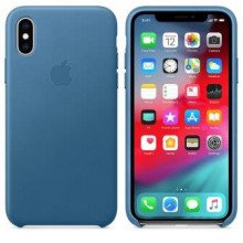 Чехол для iPhone X/XS Leather Case Cape Cod Blue OEM