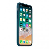 Чехол для iPhone X/XS Leather Case Cosmos Blue OEM