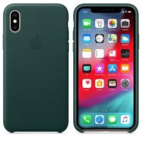 Чехол для iPhone X/XS Leather Case Forest Green OEM