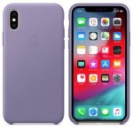 Чехол для iPhone X/XS Leather Case Lilac OEM