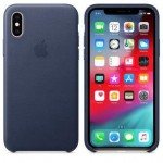 Чехол для iPhone X/XS Leather Case Midnight Blue OEM