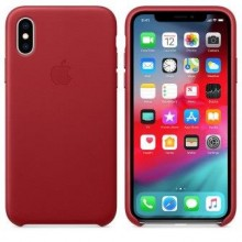 Чехол для iPhone X/XS Leather Case Red OEM
