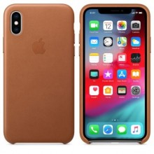 Чехол для iPhone X/XS Leather Case Saddle Brown OEM