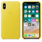 Чехол для iPhone X/XS Leather Case Spring Yellow OEM