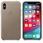 Чехол для iPhone X/XS Leather Case Taupe OEM