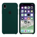 Силиконовый чехол для iPhone XR Silicone Case Forest Green Copy