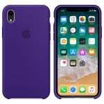 Силиконовый чехол для iPhone XR Silicone Case Ultra Violet Copy