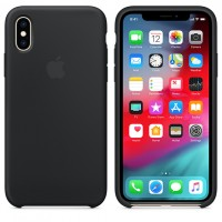 Силиконовый чехол для iPhone X Silicone Case Copy Spicy Orange