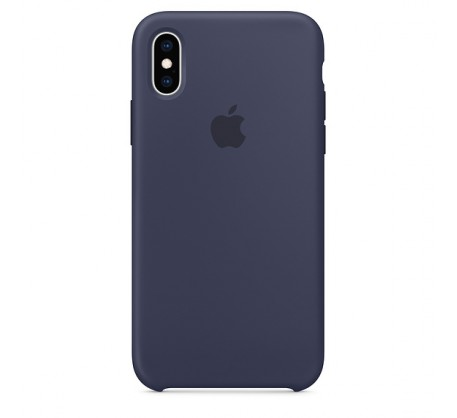 Оригинальный чехол для iPhone XS MAX Silicone Case - Midnight Blue (MRWG2)