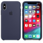 Силиконовый чехол для iPhone XR Silicone Case Midnight Blue Copy