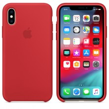 Силиконовый чехол для iPhone XS Silicone Case PRODUCT(RED) MRWC2 OEM