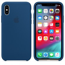Силиконовый чехол для iPhone XS Silicone Case Blue Horizon MTF92 OEM
