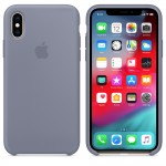 Силиконовый чехол для iPhone XS Silicone Case Lavender Gray MTFC2 OEM