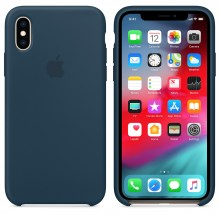 Силиконовый чехол для iPhone XS Silicone Case Pacific Green MUJU2 OEM