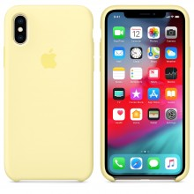 Силиконовый чехол для iPhone XS Silicone Case Mellow Yellow MUJV2 OEM