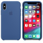 Силиконовый чехол для iPhone XS Silicone Case Delft Blue MVF12 OEM
