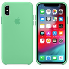 Силиконовый чехол для iPhone XS Silicone Case Spearmint MVF52 OEM