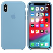 Силиконовый чехол для iPhone XS Silicone Case Cornflower MW982 OEM