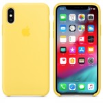 Силиконовый чехол для iPhone XS Silicone Case Copy Canary Yellow
