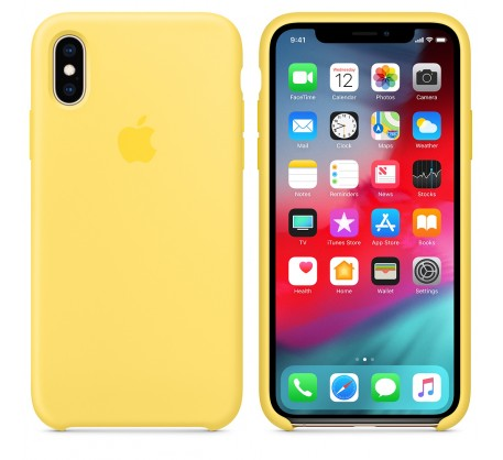 Силиконовый чехол для iPhone XS Silicone Case Canary Yellow MW992 OEM