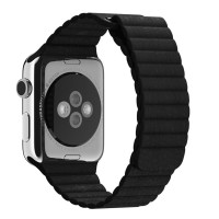 Ремешок Apple Leather Loop Band for Apple Watch 38mm/40mm Black (OEM)