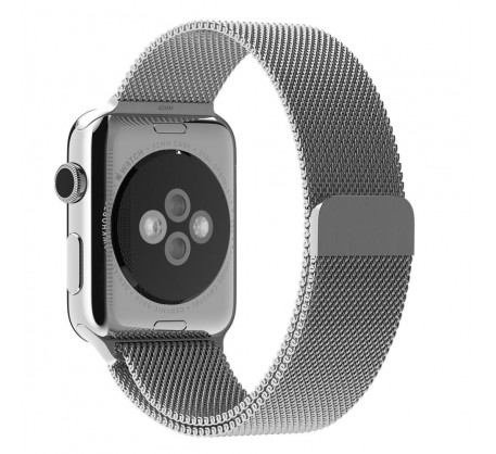 Ремешок Apple Milanese Loop Band for Apple Watch 42mm/44mm Silver (OEM)