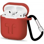 Чехол для Apple AirPods с карабином Red