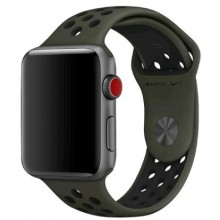 Ремешок для Apple Watch Nike+ 42mm/44mm Cargo Khaki/Black Nike Sport Band (OEM)