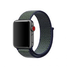 Ремешок для Apple Watch 42mm/44mm Sport Loop Dark Blue/Green (OEM)