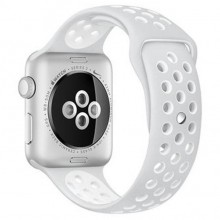 Ремешок для Apple Watch Nike+ 38mm/40mm Pure Platinum/White Nike Sport Band (OEM)